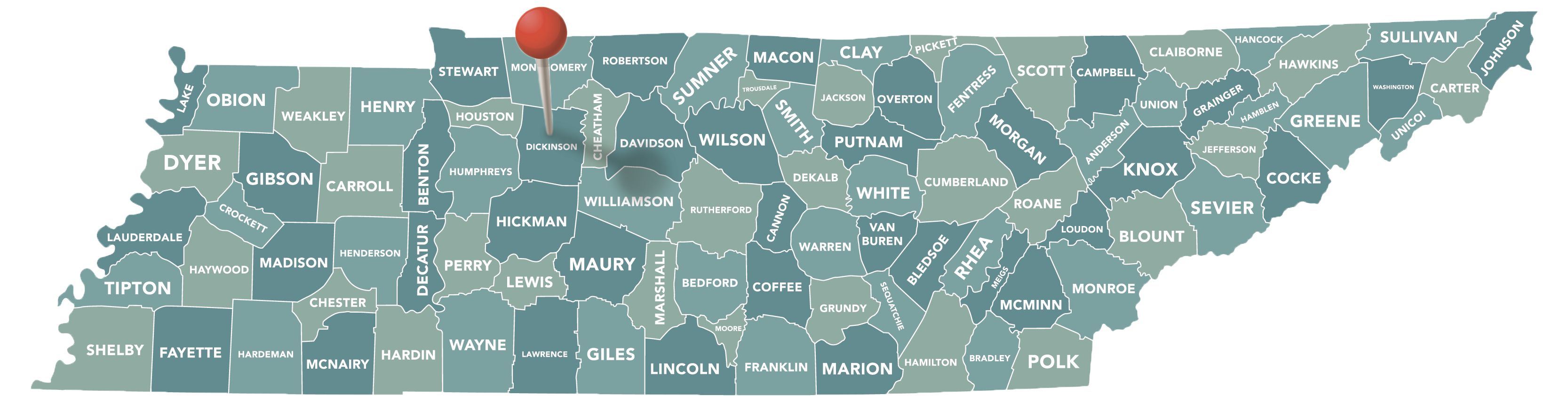 Dickson County Map