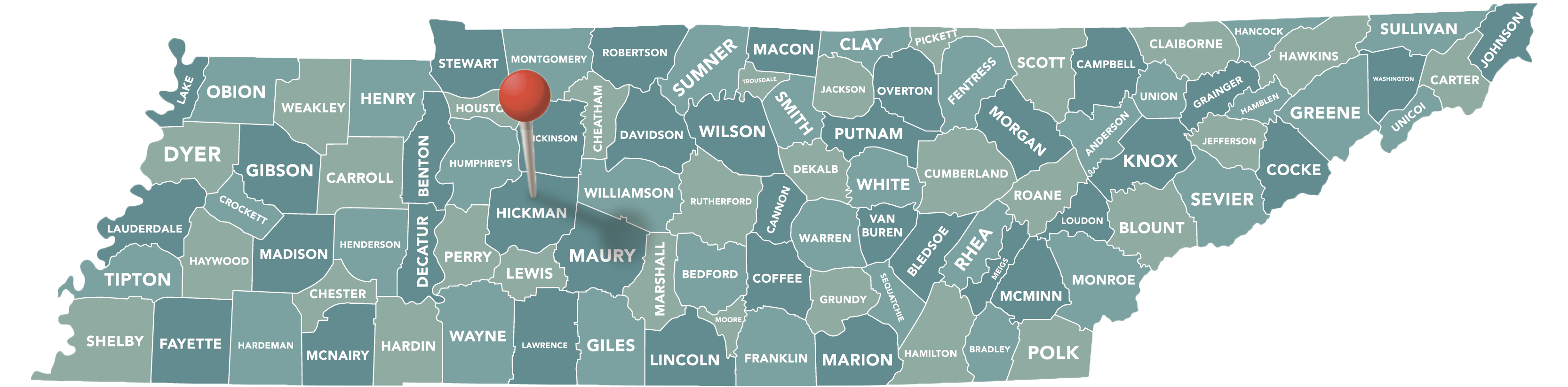 Hickman County Map