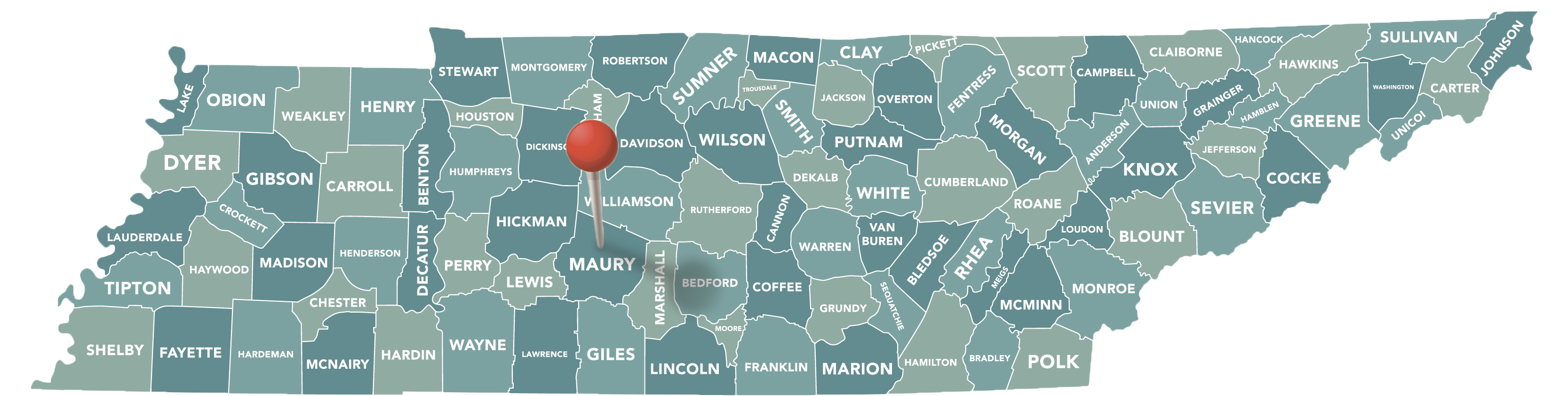 Maury County Map