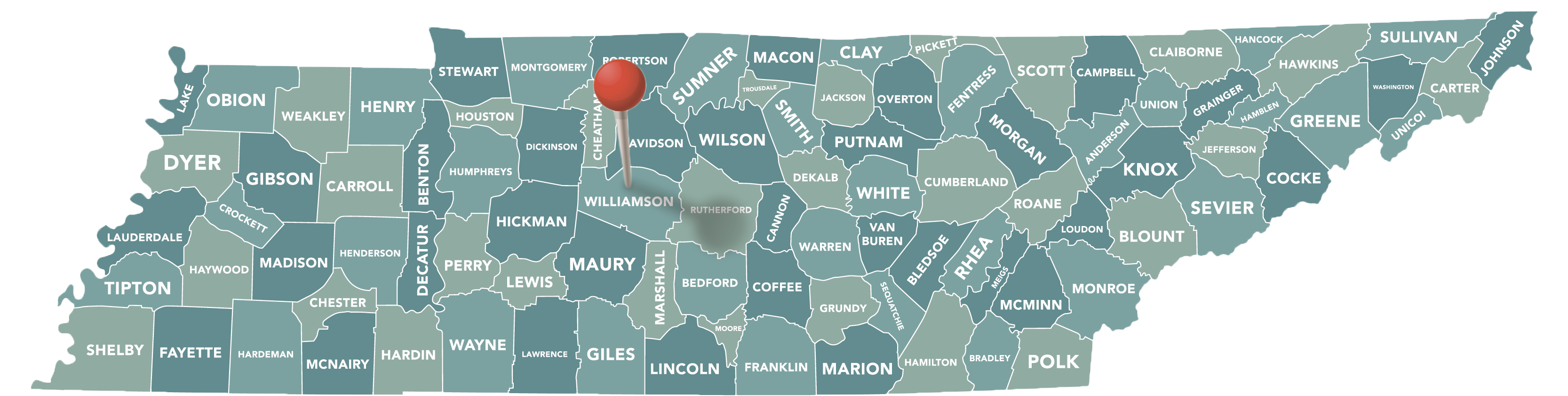 Williamson County Map
